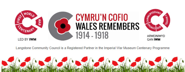 wales remembers and first world war logos